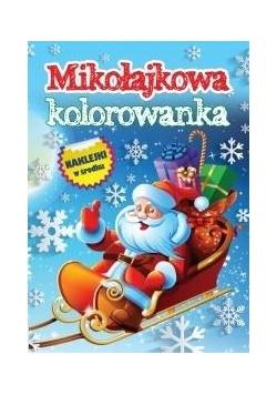 Mikołajowa kolorowanka z naklejkami