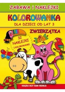 Kolorowanka dla dzieci od lat 3. Zwierzątka