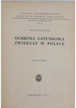 Ochrona gatunkowa zwierząt w Polsce