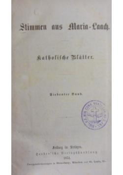 Stimmen aus Maria-Laach, 1874 r.