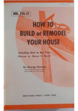 How to Build or Remodel yout House
