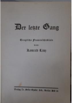 Der letzte Gang, 1933 r.