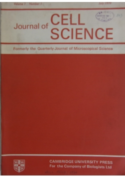 Journal of cell science, july 1970