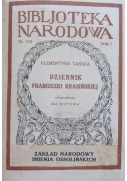 Dziennik Franciszki Krasińskiej,1929r.