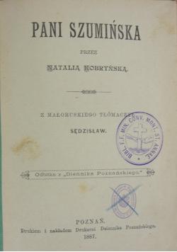 Pani Szumińska przez Natalią Kobryńską, 1887 r.