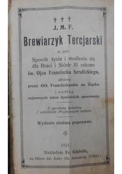 Brewiarzyk Tercjarski, 1931 r.