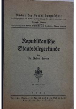 Republitanilche Staatsburgertunde, 1926 r.