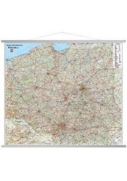 Polska. Mapa ścienna samochodowa 1:650 000