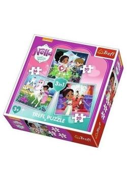 Puzzle 3w1 Rycerka Nella i jej świat TREFL