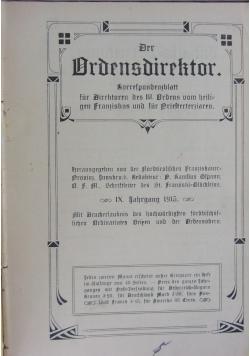 Der Ordensdirektor korrespondensblatt fur Dircktoren des III. Ordens vom heiligen Franziskus und fur Driefterziaren, 1915 r.