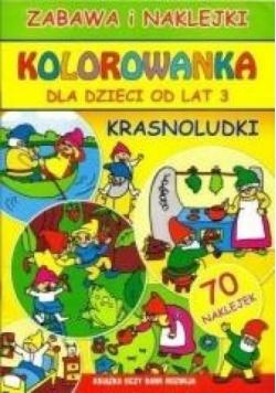 Kolorowanka dla dzieci od lat 3. Krasnoludki