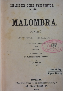 Malombra, 1901 r.