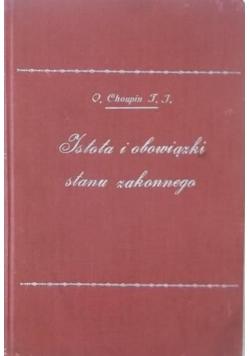 Istota i obowiązki stanu zakonnego, 1930 r.