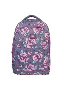 Plecak duży 17 l Flowers róż MILAN