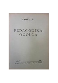 Pedagogika ogólna, 1949 r.