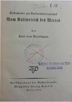 Bom Rulturreich des Meeres, 1924r.