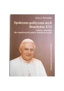 Społeczno-polityczna myśl Benedykta XVI