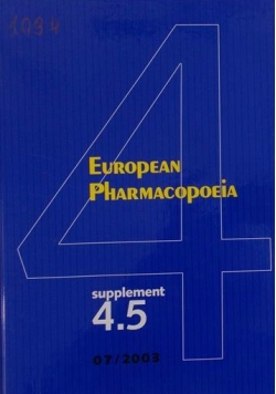 European Pharmacopoeia Supplement 4.5