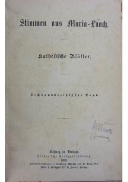 Stimmen aus Maria Laach 36 band, 1889r.