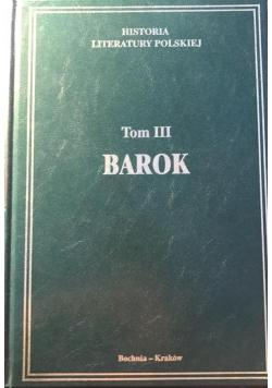 Historia Literatury Polskiej.Barok, tom III