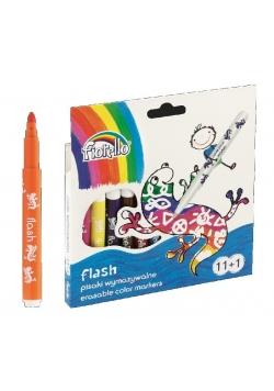 Pisaki Flash wymazywalne 11 kolorów + 1 FIORELLO
