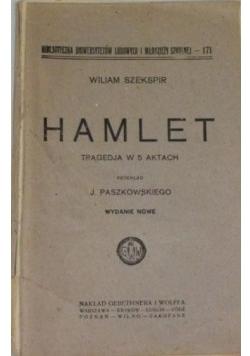 Hamlet tragedja w 5 aktach, 1925r