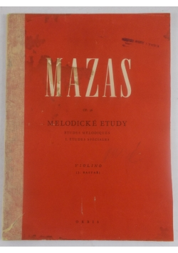 Melodicke etudy op. 36, 1950 r.