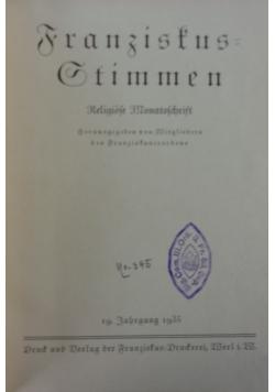 Franziskus=Gtimmen, 1935r.