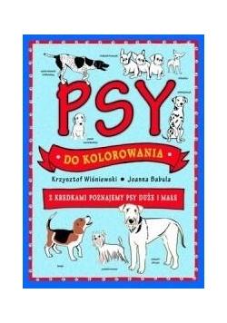 Psy do kolorowania - z kredkami poznajemy psy