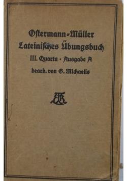 Lateinifahes Ubungsbuch, 1925r.