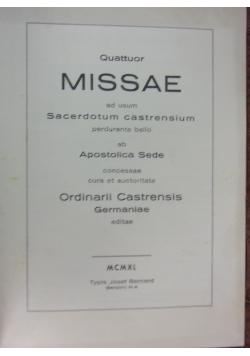Quattuor Missae ad usum Sacerdotum castrensium, 1940 r.