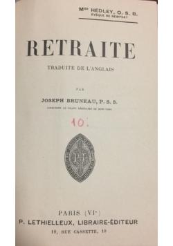 Retraite traduite de l'anglais, 1905 r.