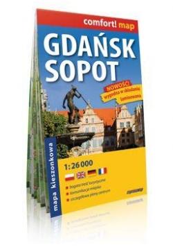 Comfort!map Gdańsk Sopot 1:26 000 midi plan miasta