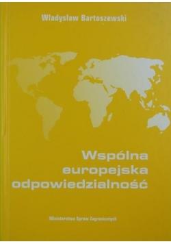 Wspólna europejska odpowiedzialność