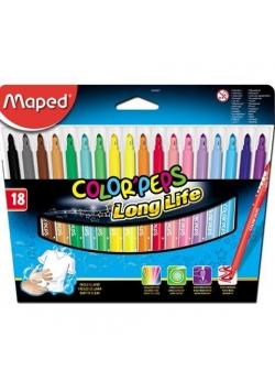Flamastry Colorpeps trójkątne 18 kolorów MAPED