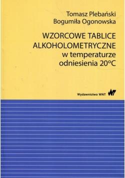 Wzorcowe tablice alkoholometryczne w temperaturze odniesienia 20 stopni Celsjusza