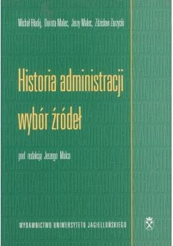 Historia administracji - wybór źródeł