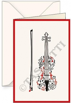 Karnet B6 + koperta Violino