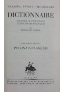 Dictionnaire, 1926r.