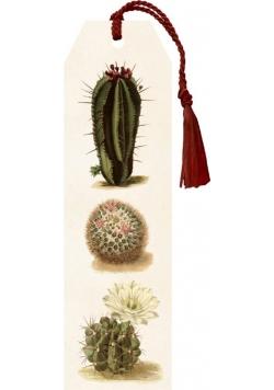 Zakładka 01 ze wstążką Kaktusy
