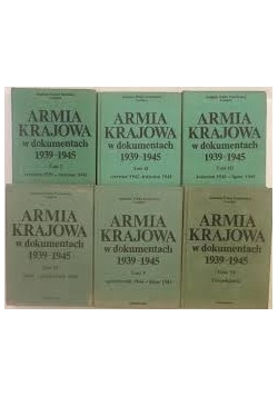 Armia Krajowa w dokumentach 1939-1945 Tom I - VI