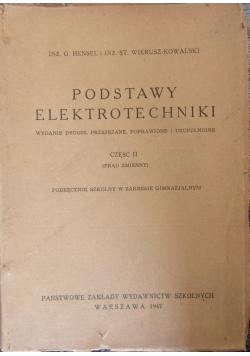 Podstawy elektrotechniki cz.II, 1947r.