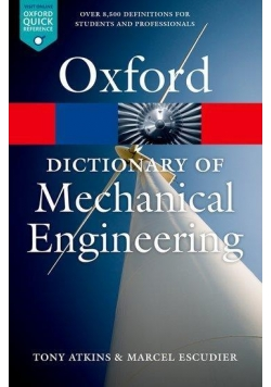 Dictionary of Mechanical Engineering 2013 OXFORD