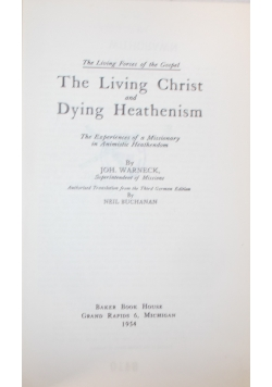 The Living Christ and Dying Heathenism