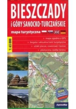 Plastic map Bieszczady i Góry Sanocko-Turczańskie