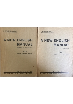 A New English Manual, t. I-II, 1945r.