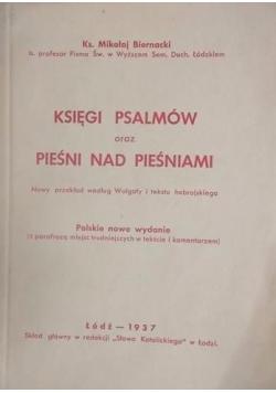 Księgi psalmów oraz pieśni nad pieśniami, 1937r.