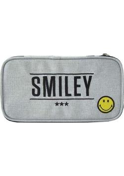 Piórnik owalny Smiley Grey