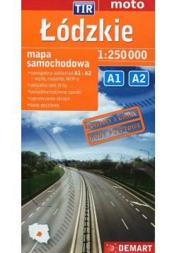 Łódzkie mapa samochodowa 1:250 000