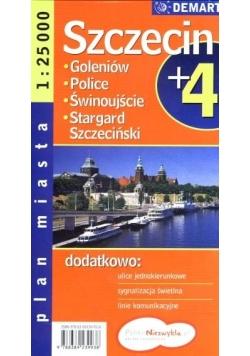 Plan miasta Szczecin +4 1:25 000 DEMART